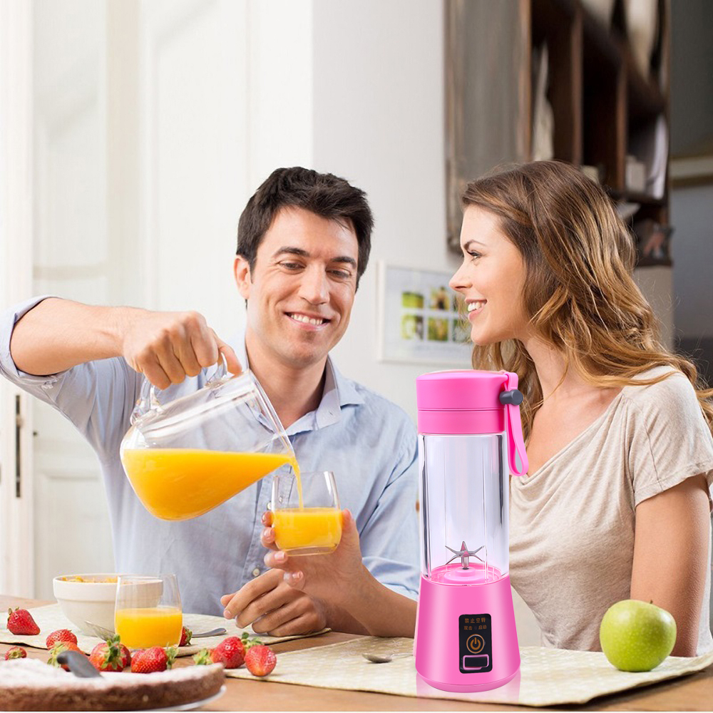 6 Blade USB Rechargeable Blender Mixer Mini Portable Juicer Juice Machine Smoothie Baby Food Super Strong Juicer Dropshipping
