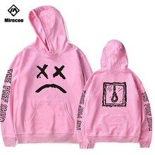 Mirecoo Hoodies Men lil Peep Hoodie Printed Sweatshirt Fleece O-Neck Pullover Harajuku High Street Hip Hop Fashion Clothing