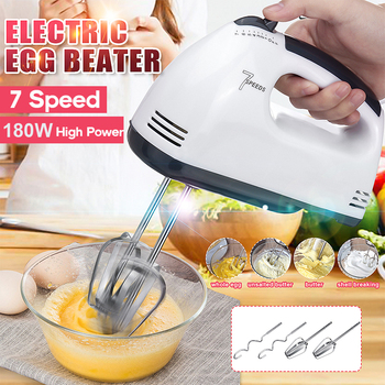 500W 7 Speed Mini Dough Hand Mixer Food-Blender Multifunctional Handheld Food Processor Automatic Electric Kitchen Mixer Tool