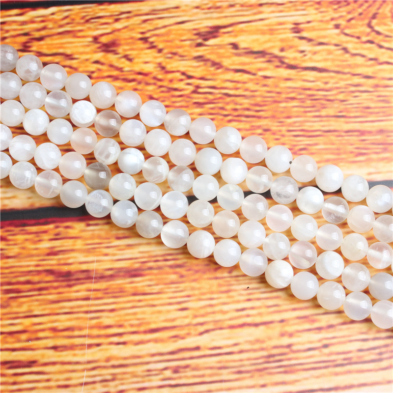Bai Yueguang Natural Stone Bead Round Loose Spaced Beads 15 Inch Strand 4/6/8 / 10mm For Jewelry Making DIY Bracelet Necklace