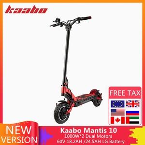 New Kaabo Mantis 10 Kickscooter 60V 18.2AH /24.5AH LG Battery 2000W Motor Smart Electric Scooter 10