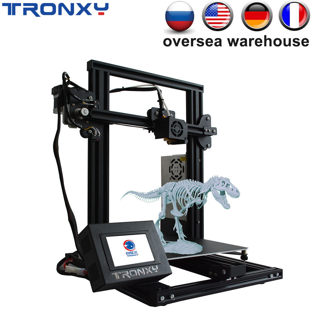 Newest Tronxy XY-2 Full metal 3D Printer 220*220*260mm Printing Size Magnetic Heat Paper 3.5 Inches Touch Screen Fast Assembly image