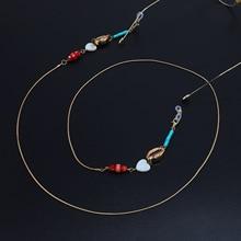 Heart Glasses Chain Women Eyewear Accessories metal shell St
