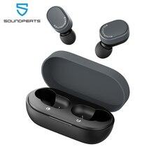 Soundpeats bluetooth 5.0 verdadeiro fones de ouvido sem fio aptx codec toque controle de volume fones de ouvido microfone embutido 7.2mm drivers aumentados