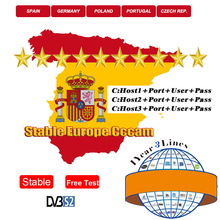 New Stable Europe Cccam for 1 year Server Portugal Germany cccam 3 cline Spain For DVB-S2 HD Satellite TV Receiver GTmedia V7S europe cccam cline for 1 year dvb s2 spain free test server for spain italy portugal germany gtmedia v8 nova v7 hd server