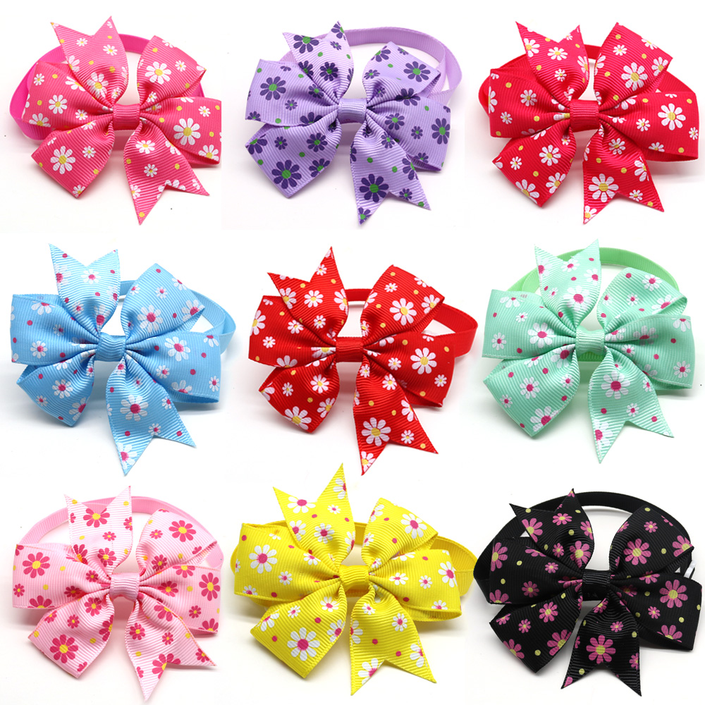 100pcs Spring Pet Supplies Cat Pet Dog Bow Tie Small Dog Bowties Nekties Dog Grooming Accessories Samll-Middle Dog Products