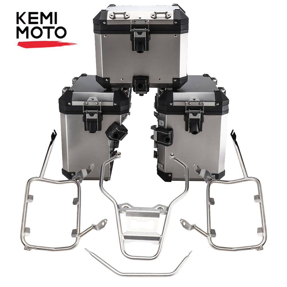 For BMW R1200GS R1250GS LC Pannier System Side And Top Boxes With Stainless Steel Racks For BMW GS 1200 GS LC 2014-2018