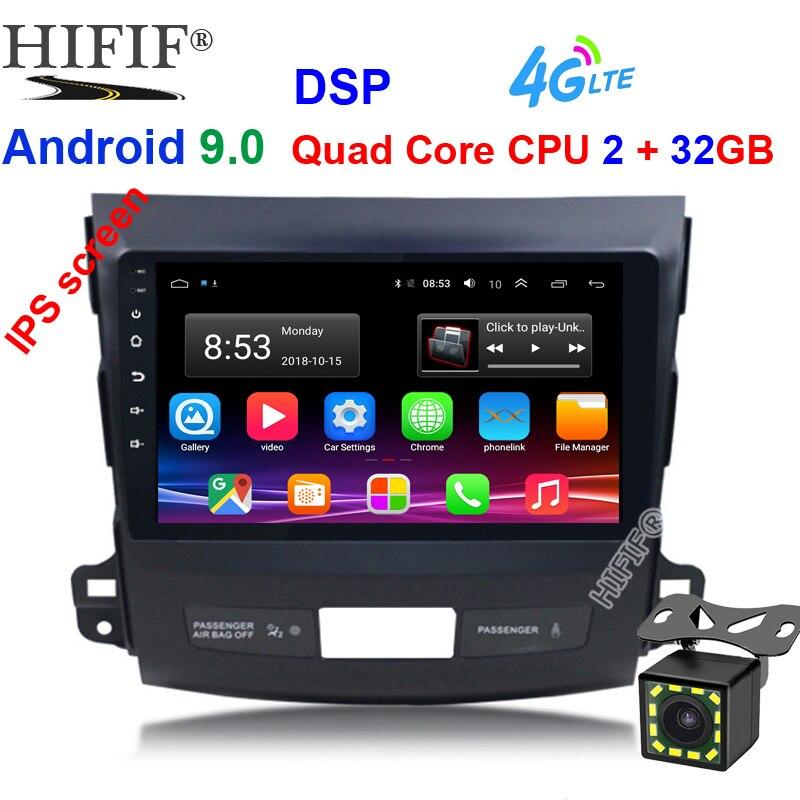 Автомобильный DVD мультимедийный плеер для Mitsubishi Outlander XL 2005 2014 2din Android 9,0 радио магнитофон навигация gps