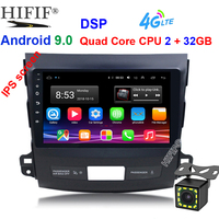 Car DVD Multimedia player For Mitsubishi Outlander XL 2005 2014 2din Android 9.0 Radio Tape Recorder Navigation GPS