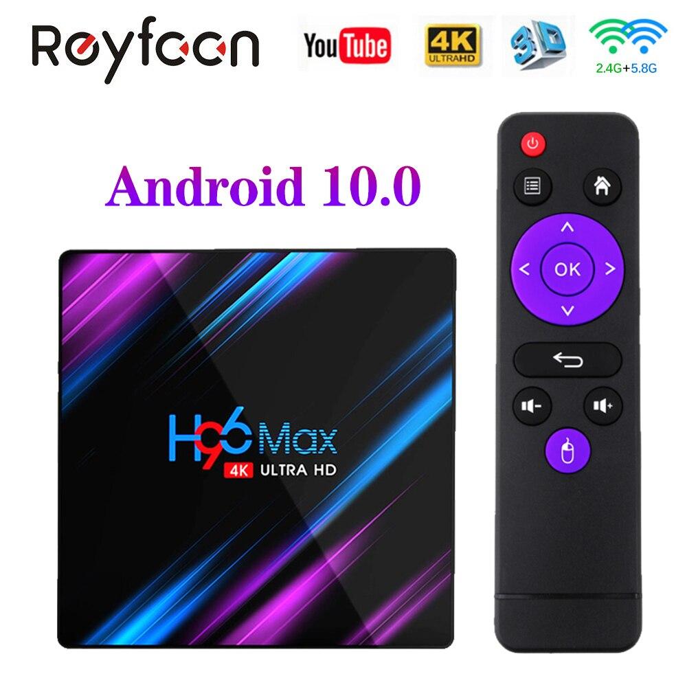 Nowy H96 MAX Android 10 TV BOX Rockchip RK3318 4G 64GB 1080P 4K 5G podwójny Wifi Smart TVBOX odtwarzacz Google sklep Youtube H96MAX Media|Dekodery STB|   - AliExpress