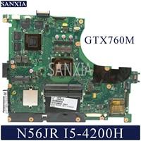 Kefu N56JR Scheda Madre Del Computer Portatile per Asus N56JR Mainboard Originale I5-4200H GTX760M