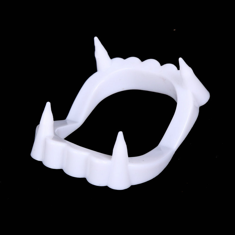 1pcs  New Toy Vampire Fake Teeth For Halloween Party Prop Masquerade Cosplay Makeup Funny Dentures Free Shipping