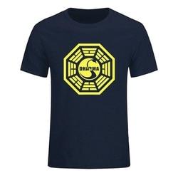 Été nouveau téléviseur perdu Dharma Initiative cygne Logo MenFunnyMen coton à manches courtes mâle haut livraison directe T-Shirt