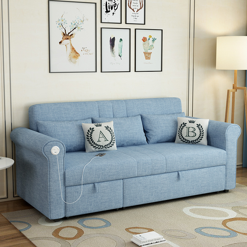Simple Dual-purpose Sofa Bed Multifunctional Removable And Washable Leisure Sofa Small Apartment Folding Sofa Bed Wholesale