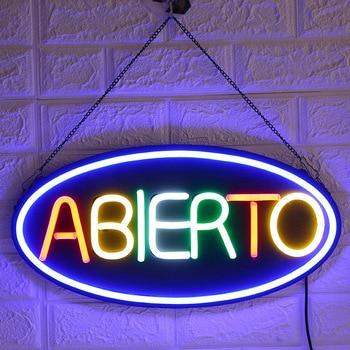 Letrero de neón LED de 60x15cm personalizado para tienda, restaurante, Hotel, floristería,...