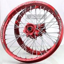 12mm 15mmFront 1.40x14 inch Rear 1.85x12 inch Alloy Wheel Rim For KAYO HR-160cc TY150CC Dirt Bike Pit bike 12 14 inch wheel 15mm front 1 60 14 rear 1 85 12 alloy wheel rim with cnc hub for kayo hr 160cc ty150cc dirt pit bike 12 14 inch gold wheel