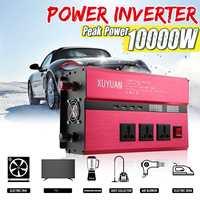 KROAK Car Inverter 12V 220V 10000W Solar Power Inverter Sine Wave Inverter Car Invensor AC 110V Convertor Voltage Transformer
