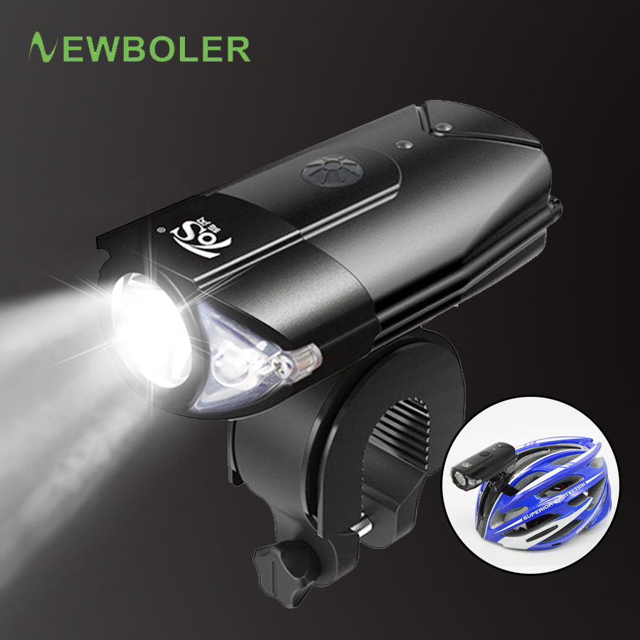 USB Rechargeable LED Bicycle Flashlight Lamp Front Cycling Light Headlight USA