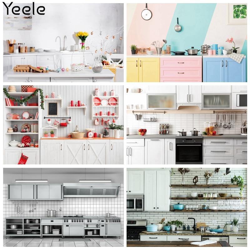 Фон для фотосъемки Yeele с изображением интерьера кухни Yummy Foods, персонализированные фоны для фотостудии
