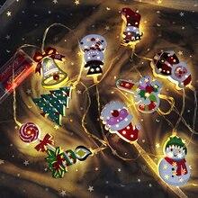 Adornos navideños para el hogar, adornos colgantes de árbol, guirnalda navideña de Papá Noel, regalos de Año Nuevo