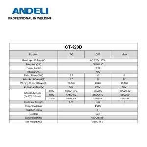 Image 4 - Andeli Smart Draagbare Eenfase Intelligente Multifunctionele 3 In1 Lassen Machine CT 520D Cut/Mma/Tig Lasser