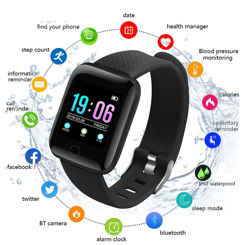 Smart Sport Bluetooth Pedometer Children Smart Watch Sleep Monitor Waterproof Smartwatch Kids Boy Gift Watches D13 Fit Android