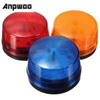 ANPWOO impermeable de alta calidad 12V 120mA seguridad alarma estroboscópica señal de advertencia de seguridad Azul Rojo naranja luz LED para destellear