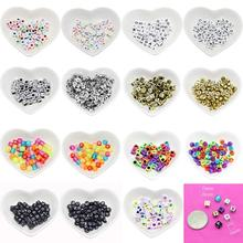100Pcs DIY Jewelry Accessories Letter Beads Handmade Acrylic Bead Kit Jewelry Beads Set Necklaces Bracelet Making Toys For Girls(China)