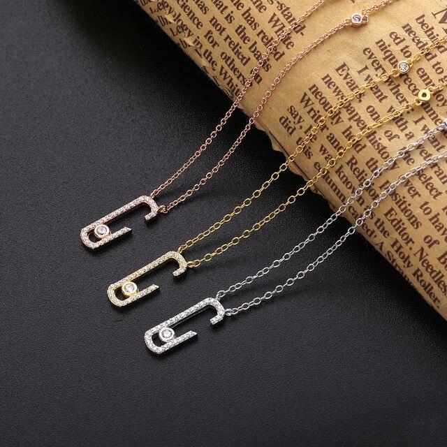 Стеклянная цепочка с подвеской цирконием серебро 925 пробы