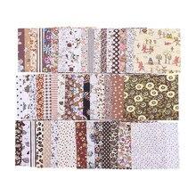 Tela cuadrada de 50 Uds., 10x10cm, tela de algodón de colores combinados, tejidos acolchados de costura artesanal, tejido de costura