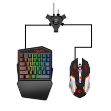 Gaming Tastatur Maus Bluetooth Konverter Combo RGB LED Backlit PC Handy-Spiel Mäuse Tastatur Zubehör(China)