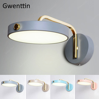 Nordic Design Iron Wall Lamps Modern Wall Sconce Light Fixtures Led Mirror Lights for Bathroom Bedroom Stair Lamp Home Art Deco