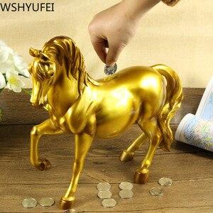 Креативная полимерная Копилка лошадь к успеху домашняя мебель фигурки лошадей банка для хранения денег бизнес подарки изделия из смолы