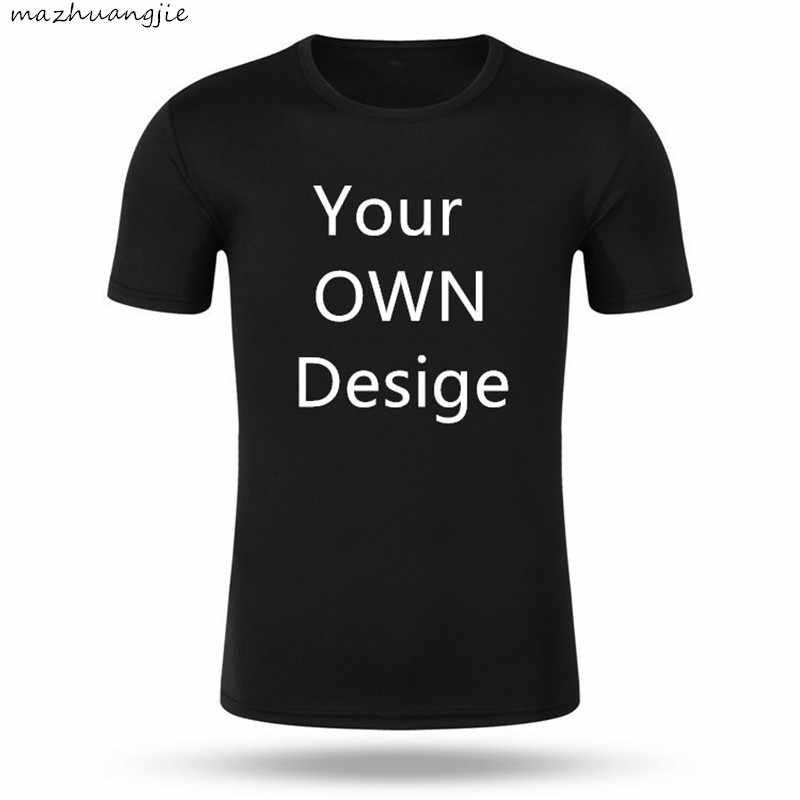 Custom Mannen Vrouwen Aangepaste T-shirt Print Als Foto Of Logo Tekst Diy Uw Eigen Ontwerp 100% Katoen Harajuku Zwart tshirt