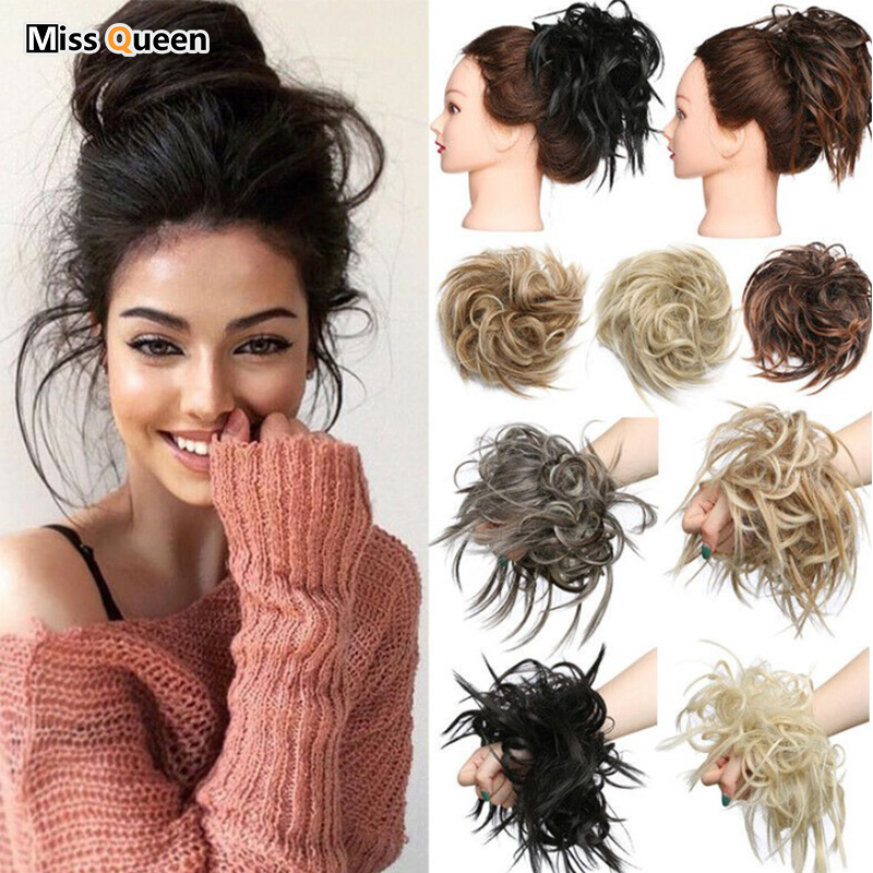 Miss Queen Messy Scrunchie Chignon Hair Bun Straight Elastic Band Updo Hairpiece Synthetic Hair Chignon Hair Extension For Wome Synthetic Chignon Aliexpress