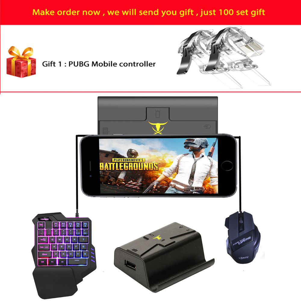 Kuulee Phone Gamepad Android Pubg Controller Gaming Keyboard Mouse To PC Converter Adapter For IPhone Free Shipping And Gift