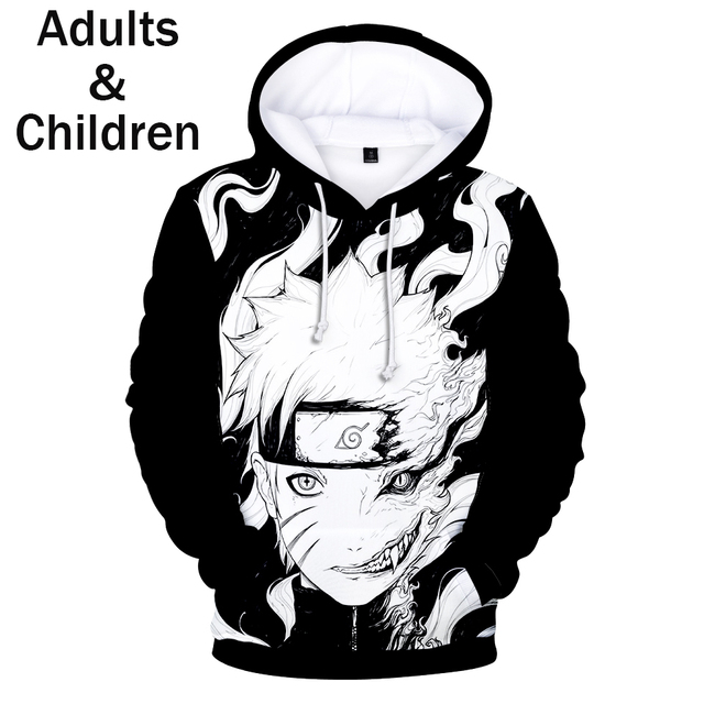 3D NARUTO THEMED HOODIE (12 VARIAN)