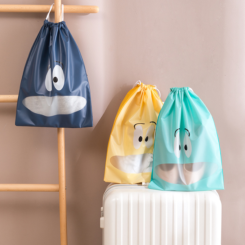 Portable Waterproof Cartoon Travel Bag Suitcase Shoes Underwear Travel Storage Bag Clothes Cosmetics Packaging Drawstring Bag