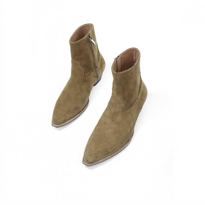 Herbst Winter Zipper Chelsea Stiefel Männer Landebahn Mode 2020 Wildleder Leder Karree Stiefeletten Britischen Cowboy Schuhe Plus Größe