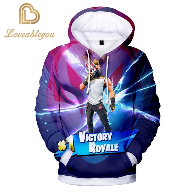 Victory Royale Gaming Pink Bear New 3D Hoodie Children  Streetwear Hip Hop Warm Hoody Sweatshirts Harajuku Sweat Homme Hoodies 1