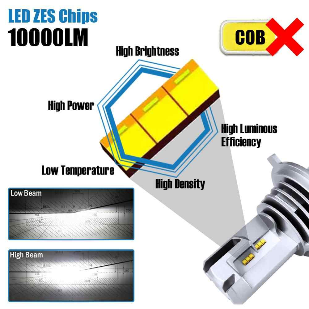 LED H4 H7 H11 H9 H8 H16 (JP) HB3 HB4 9005 H10 9006 HB2 9003 Auto HA CONDOTTO il Faro Lampadine 50W 10000Lm 6000K Hi Lo Fascio ZES chip 1 coppia