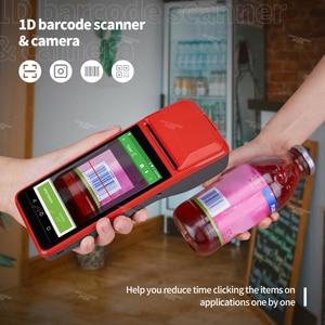 Image 5 - Ручной КПК ISSYZONEPOS, с 1D сканером штрих кода, КПК 4G, Wi Fi, с камерой, чековый принтер для мобильного заказа