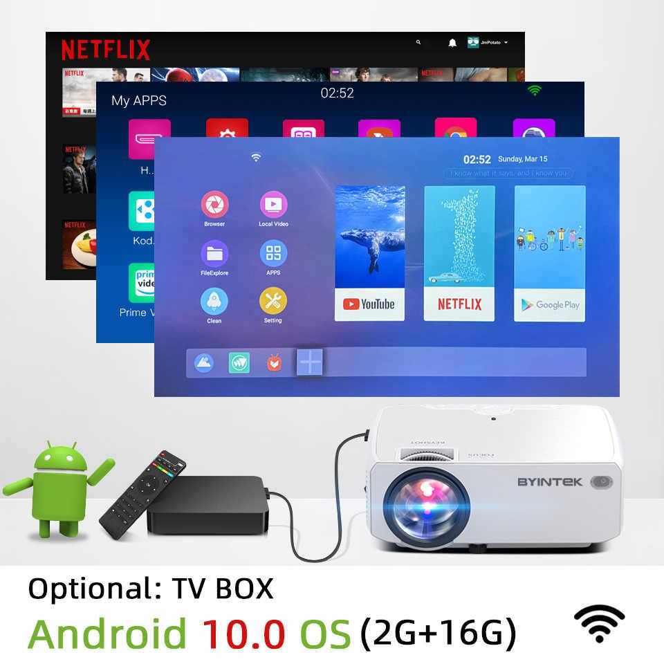 Proyector Mini HD BYINTEK C600 (opcional Android 10 TV Box), Proyector 150 P de 720 pulgadas, Proyector LED portátil para Cine 1080P 3D 4K