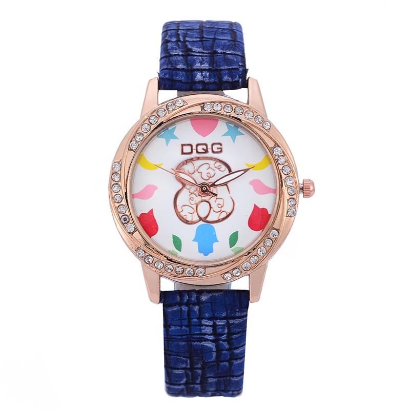 Kobiet Zegarka 2019 New Fashion Top Brand Bear Women Watch Luxury Dress Quartz Watches Ladies Casual Leather Wrist Watches Hot