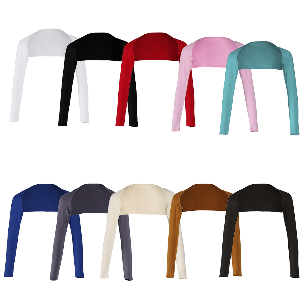 Women One Piece Long Sleeves Modal Arm Cover Shrug  Hijab Tops Muslim