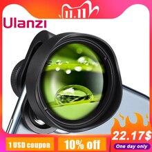 ULANZI lente de cámara Macro para teléfono móvil, lente Universal para iPhone 11 Pro Max/XS Max/XR/XS Max, todos los cristales de teléfono inteligente Android