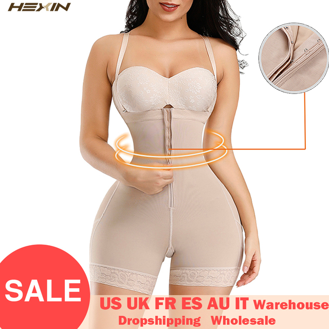 HEXIN Plus Shapewear Workout Waist Trainer Corset Butt lifter Tummy Control Plus Size Booty Lift Pulling Underwear Shaper