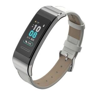 Image 2 - Lederen Horlogebandje Voor Huawei Band 4 Pro Armband Echt Lederen Horloge Band Voor Huawei Band 3 Pro Voor Huawei band 3