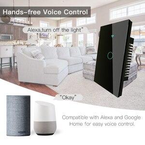 Image 3 - Interruptor táctil de pared inteligente RF433 WiFi, sin cable neutro, funciona con Alexa, Google Home, 170 250V