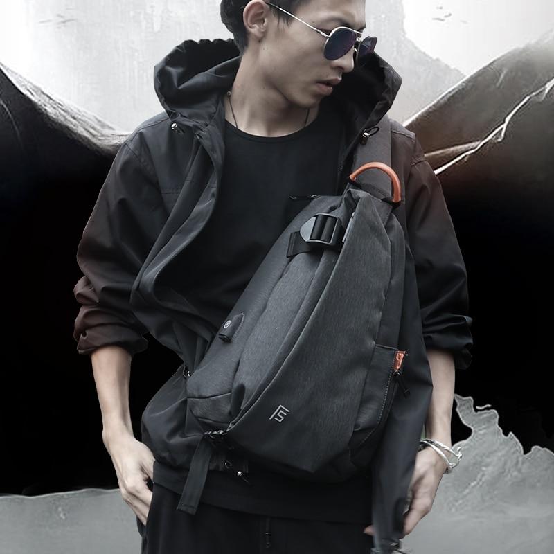 FYUZE Over Shoulder Bag Men Summer 2020 Waterproof Multifunction Crossbody Bag For Men USB Charge Casual Racket Bag Short Trip